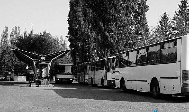 A régi buszmegálló.
