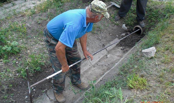 árvízvédelmi munkálatok
