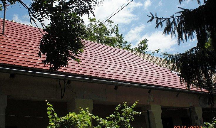 A Tájház tetőszerkezetének felújítása