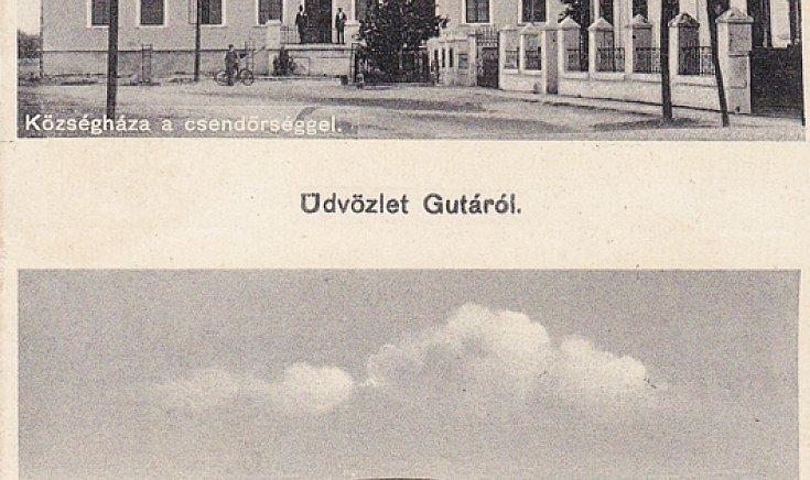 Községháza a csendőrséggel, Kis dunahíd