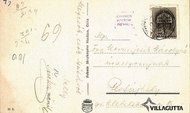 Polgári iskola, Vasútállomás, Községháza, Csendőrlaktanya, R.k. templom,  és belseje, Duna és Vághíd