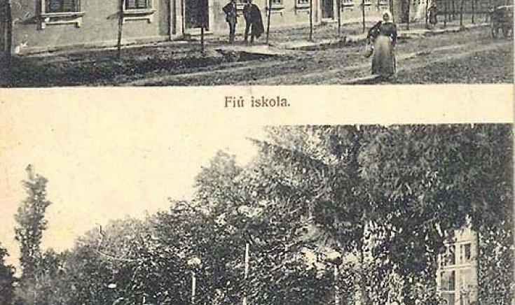 Fiú iskola, Plébánia (1907)