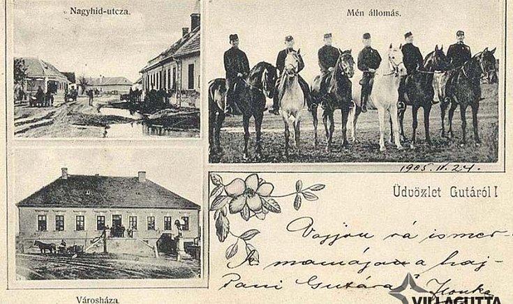 Nagyhíd-utza, Mén állomás, Városháza (1905)