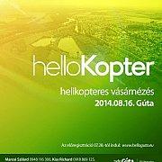 Helikopteres városnézés lesz Gútán búcsúkor