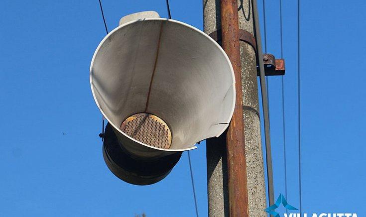 A városi hangszórót jelenlegi állapotában nem tudjuk tovább fenntartani.